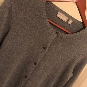 Croft & Barrow Heather Grey Cardigan Sweater - Sm